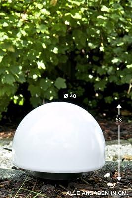 Kugelleuchte Kugellampe - Aussenlampe Mit 30 Cm Durchmesser Mit Erdspiess Und 5 Metern Zuleitung