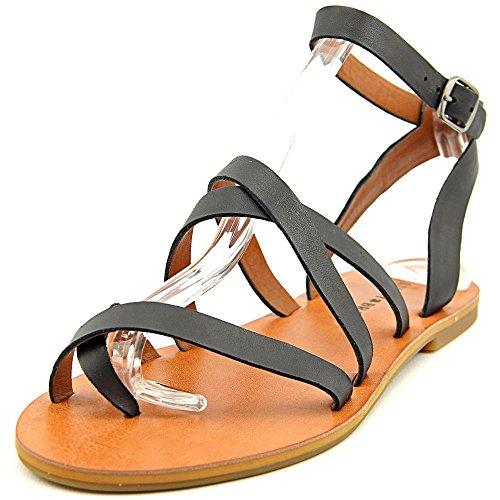 Lucky Brand Aubree Leder Gladiator Sandale Black