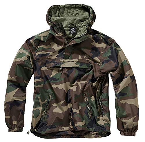 Brandit Summer Windbreaker, Woodland, S Windbreaker