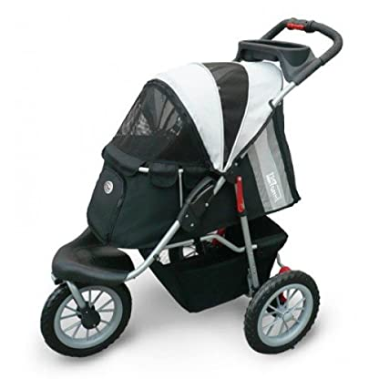 Pet Stroller,IPS-070, Black/Silver, Dog Carrier, Trolley, Innopet, Comfort EFA Buggy. Foldable pet buggy, pushchair… 2