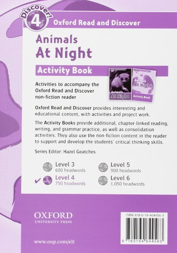 Oxford Read and Discover 4. Animals at Night Activity Book