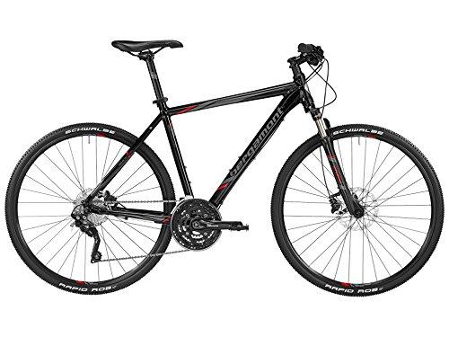 Bergamont Helix 9.0 Herren Cross Trekking Fahrrad schwarz/grau/rot 2016: Größe: 56cm (178-186cm)