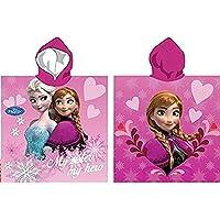 Capa de baño para bebé con capucha, diseño de corazón de Anna de la película Frozen, diseño de Frozen