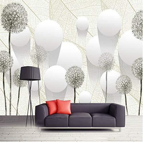 Benutzerdefinierte Fototapete Mode Löwenzahn Blume Ball 3D Stereoscopic Wohnzimmer Tv Hintergrundbild Moderne Kreative Decor368 (B) X254 (H) Cm