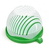 Hoovo Taglia Insalata Ciotola Salad Bowl Maker Cutter nsalata di Frutta Maker in 60 Secondi (Verde)