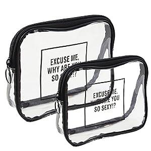 Rancco® 2 Pcs Trousse de Voyage Organisateur Salle de bains de rangement Cosmétique Trousse, PVC Sac à Rangement Maquillage Voyage / wash bag de Make up Organisateur Sac Organisateur, Imperméable