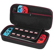 Funda para Nintendo Switch - Younik versión mejorada del estuche duro con un mayor espacio de almacenamiento para transportar tu Nintendo Switch