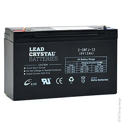 Lead Crystal - Akku Bleikristall 3-CNFJ-12 6V 12Ah F6.35 -