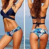 Hot Sale Push-Up Padded Bra Swimsuit,BeautyVan Fashion Design Sexy Women Bikini Set Swimwear Push-Up Padded Bra Swimsuit Beachwearr (S, Blue)