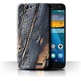 Carcasa/Funda STUFF4 dura para el Huawei Ascend G7 / serie: Corteza - Madera Quemada