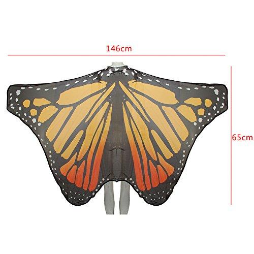 Monarch Schmetterling Kostüm Flügel - Ruick Chiffon Herrscher Schmetterling Flügel Schal