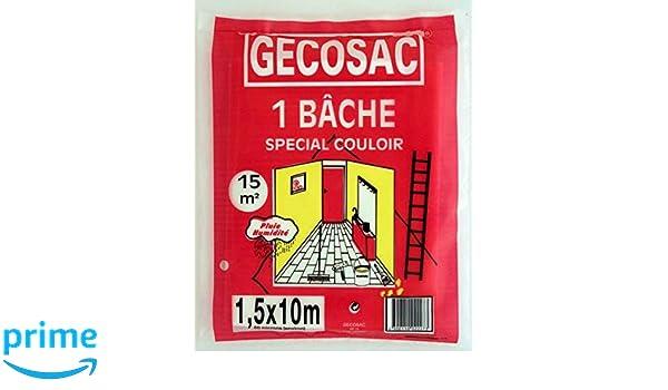 Gecosac Bâche de Protection polyéthylène translucide 3 x 5 mètres 50 microns épais Universel Ensembles de bâches