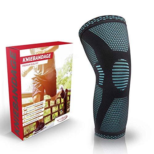 Vigo Sports® Anti Rutsch Kniebandage für Sport, Schmerzlinderung & Genesung – Optimale Knieschützer für Männer & Damen – Elastische Knieschoner für Volleyball, laufen & Joggen – Knee Brace