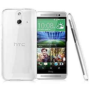 Halowishes Ultra Thin Crystal Clear Transparent Hard Case Back Cover for HTC One E8
