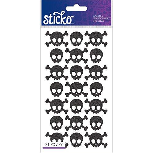 Sticko Classic pegatinas de calaveras de metal, negro