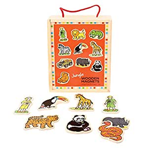 bigjigs toys aimants jungle en bois jeux et jouets. Black Bedroom Furniture Sets. Home Design Ideas
