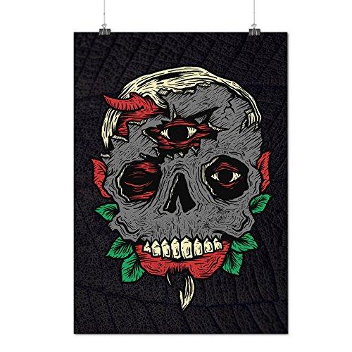 Monster Satan Tot Horror Mattes/Glänzende Plakat A3 (42cm x 30cm)   Wellcoda