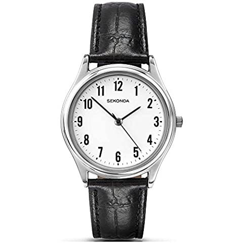 Sekonda Men's Quartz Watch with White Dial Analogue Display and