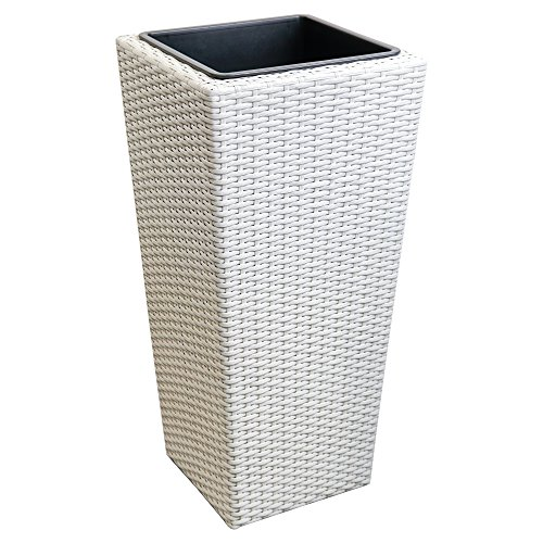 flower-plant-pot-tub-bucket-plastic-indoor-outdoor-polyrattan-white-40x40x78cm