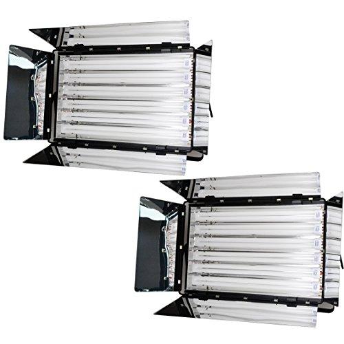 HWAMART® banche 2x6 1650W Pro luce fluorescente 6 Bank illuminazione continua tubo DayLight OSRAM con finitura a specchio NUOVO