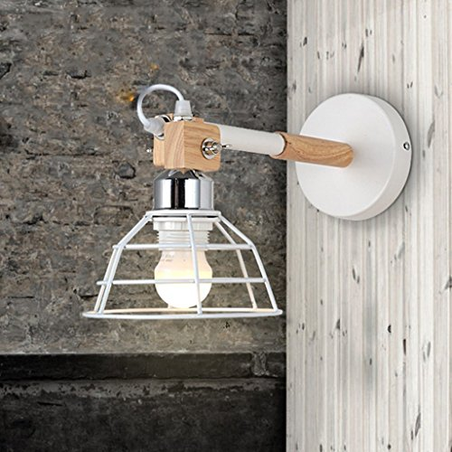 side Bird Cage Creative Wall Light Bedroom Industrial Retro Aisle Corridor Creative Small Cage Wall Lamp ()