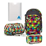 satch Match by Ergobag Beach Leach 2.0 4-teiliges Set Rucksack, Sporttasche, Schlamperbox & Styler-Box