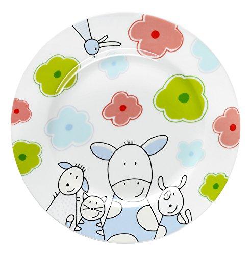 WMF Farmily Kindergeschirr Kinderteller, Ø 19,0 cm, Porzellan, spülmaschinengeeignet, farb- und lebensmittelecht