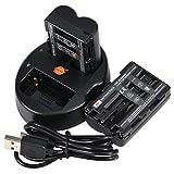 DSTE 2 Pack NP-FM500H Battery + Dual USB Quick Charger Kit for Sony Alpha SLT-A57 A58 A65 A65V A77 A77V A99 CLM-V55 DSLR-A100 A200 A300 A350 A450 A500 A550 A560 A580 A700 A850 A900 Digital Cameras
