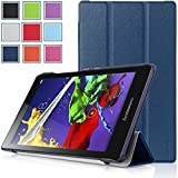 Bestdeal® High Quality Ultra Slim Lightweight SmartCover Stand Case for Lenovo TAB2 A8-50 8.0 inch Tablet PC + Stylus Pen (Navy Blue)