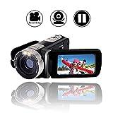"Videokamera Full HD 1080p Digitalkamera 24.0MP Webcam 2.7"" LCD drehbarer Bildschirm 16x Digitalzoom Camcorder HD mit Pausenfunktion"