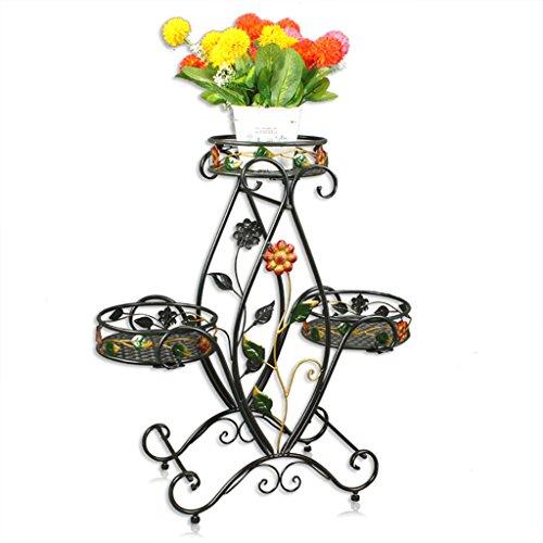 FZN Pot de fleur Rack Multi-couche étage salon de style européen intérieur et extérieur terrasse Showy Green Dill Spider Plants Pots de fleurs (Couleur : #1)