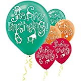 Jungle Animals Latex Balloons 6ct