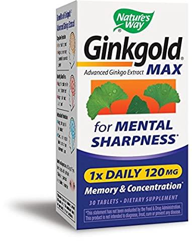 Nature's Way Ginkgold Max, 30 Tabs 120 MG
