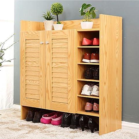 HOOM-L'armoire de rangement bahut 2 portes mobilier autoportant,convient pour chambre