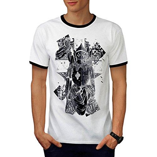 Ritter Krieger Mode Mittelalterlich Herren M Ringer T-shirt | Wellcoda (Mittelalterliche Krieger Prinzessin Kostüm)