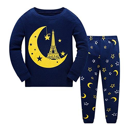 (Qzrnly Jungen Schlafanzug Langarm Herbst Winter Kinder Nachtwäsche Pyjama Sets 98 104 110 116 122 128 134)