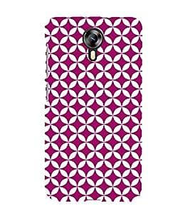 Purple Hexagon 3D Hard Polycarbonate Designer Back Case Cover for Micromax Canvas Xpress 2 E313 :: Micromax Canvas Xpress 2 (2nd Gen)