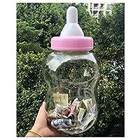 Preisvergleich für Gwill 38x16cm / 15.2''x 7.2 '' große Größe Piggy Cans Bank Milch Geformte lustige Flasche mit Nippel Food Storage große Flasche für Baby-Dusche mit Schnuller Dekoration Familie Aufbewahrungsbox