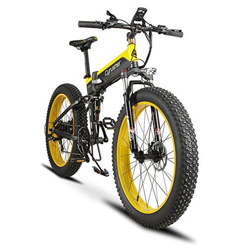 Extrbici Cruiser Bicicleta Eléctrica Plegable XF690 500w 48v 10A Electrónica Grasa Neumática E Bicicleta Completa Suspensión 7 Velocidades Bicicleta Eléctrica