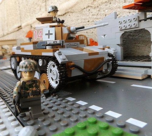 Modbrix 2459- ✠ Bausteine Panzer Pzkpfw II Ausf. C inkl. custom Wehrmacht Soldaten aus original Lego© Teilen ✠ thumbnail