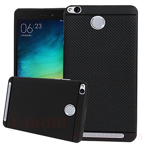 Jkobi 360* Protection Premium Dotted Designed Soft Rubberised Back Case Cover For Xiaomi Mi Redmi 3S / 3 Prime -Black
