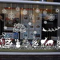 Justdolife Desprendible Navidad Pared Arte Adhesivo para Decoraciones del Hogar