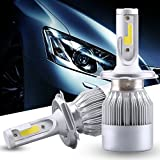 #3: C6 H-4 All In One Compact Design 36W/3800LM LED Headlight Conversion Kit Car High/Low Beam Bulb Driving Lamp 6500K (2 Pcs)