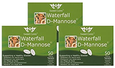 Sweet Cures Waterfall D-Mannose 1g Tablets (3x 50 Tablets) Multi Buy from Sweet Cures