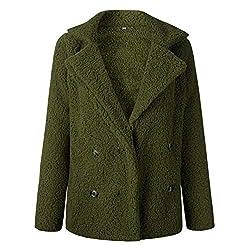 * Features:  * Material: 85% Polyester;15% Elasthan  * Der Mantel mit Revers wird ein Schlüsselstück Ihres Kleiderschrankes. Wählen Sie diese zweireihigen Mäntel für Wärme und Stil.  * Feature: casual; einfarbig; faux für; revers; lange Ärmel; vorde...
