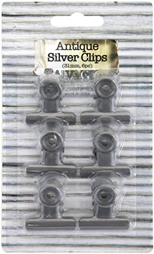 Antique Bull Clips 31Mm 6/Pkg-Silver
