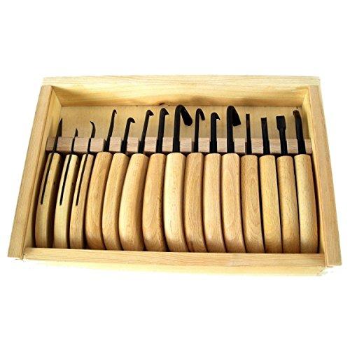 Bonsai - Jin + Shari-Werkzeug, 15 tlg. Set Schnitzwerkzeuge in Holzbox 60075