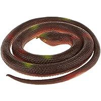 Caucho de Simulación de Serpientes Redondas Aire Libre Animal Niños - Marrón