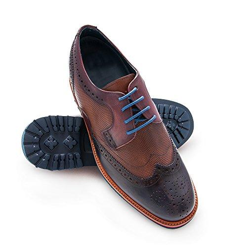 ZERIMAR Chaussures réhaussantes intérieur pour messieurs Augmentation + 7cm Disegne par Angel Infantes