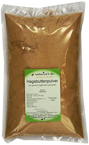 Preisvergleich Produktbild Naturix24 Hagebuttenpulver,  Hagebutten gemahlen,  1er Pack (1 x 500 g)